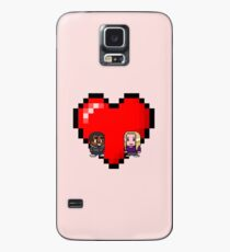 """Love in 8-bit"": Britta and Troy (Style B) Case/Skin for Samsung Galaxy"