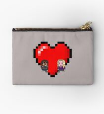 """Love in 8-bit"": Britta and Troy (Style B) Studio Pouch"