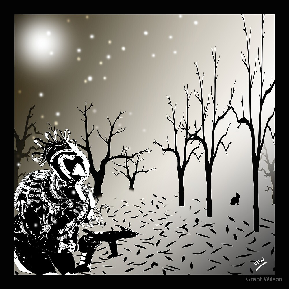 Robot Warrior in Snow.. by Grant Wilson