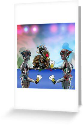 Robot Warrior Bar Scene.. by Grant Wilson