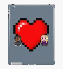 """""""Love in 8-bit"""": Britta and Troy (Style C) iPad Case/Skin"""