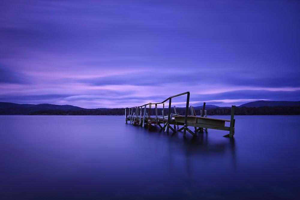 Derelict jetty - Carnarvon Bay Tasmania by Mark Shean
