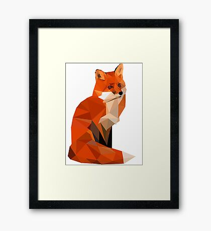 Low poly fox Framed Print