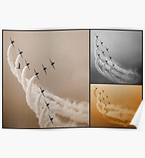Red Arrows Collage Poster