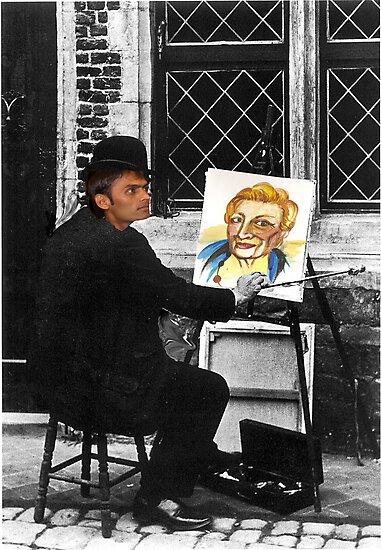 Sketching in Old Belgium by Gilberte