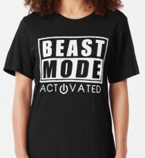 Beast Mode Gym Bodybuilding Sport Motivation Slim Fit T-Shirt