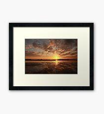 Bronze Sunset Framed Print