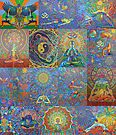 Acrylic Yoga Paintings by Karmym by karmym