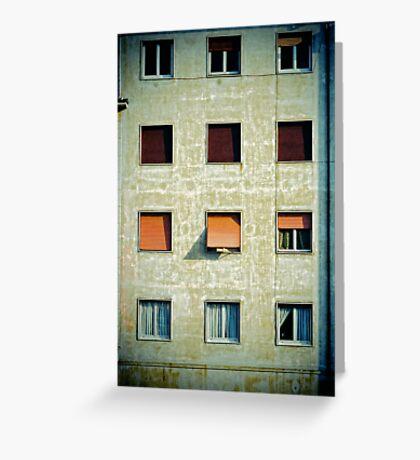 Twelve windows Greeting Card