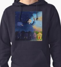 Night lady turns day into night Pullover Hoodie