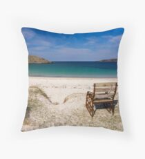 Achmelvich Beach Throw Pillow