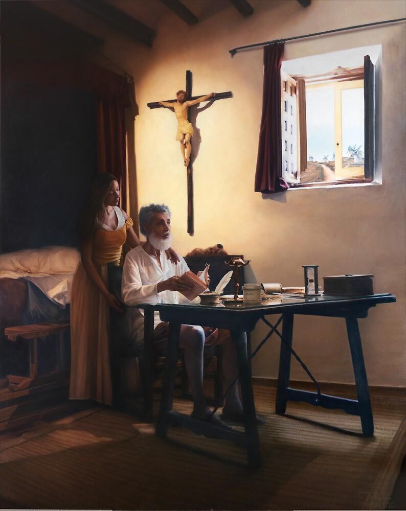 Don Alonso Quijano Honor y Gloria de la Mancha  by Maria Jose  Aguilar Gutierrez