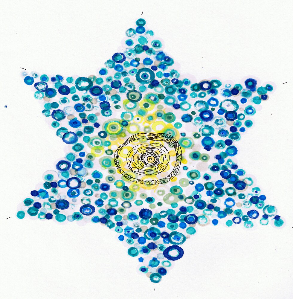 Holiday design - blue star by Regina Valluzzi