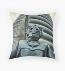 Cyberman Throw Pillow