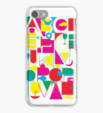 Graphic Alphabet iPhone Case/Skin