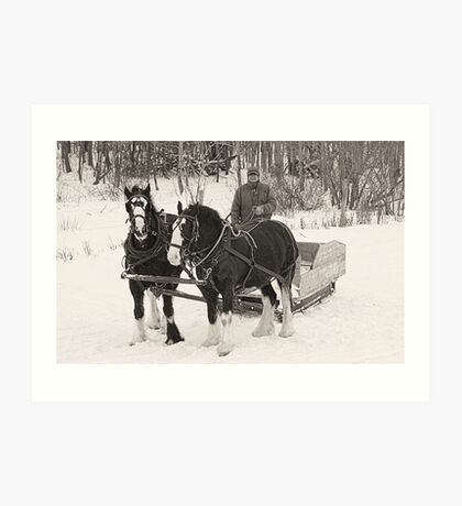Christmas Sleigh Ride Art Print