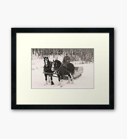 Christmas Sleigh Ride Framed Print