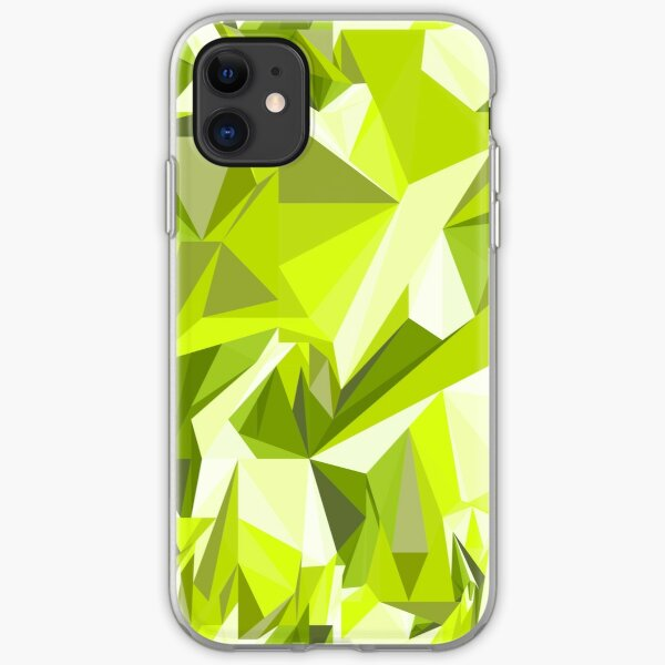 Net of green triangles iPhone Soft Case