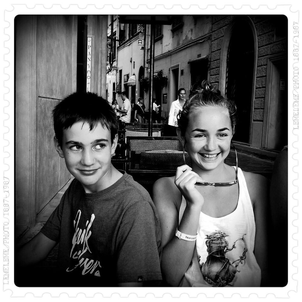 Chris e Eleanor a Firenze by Colin Leal