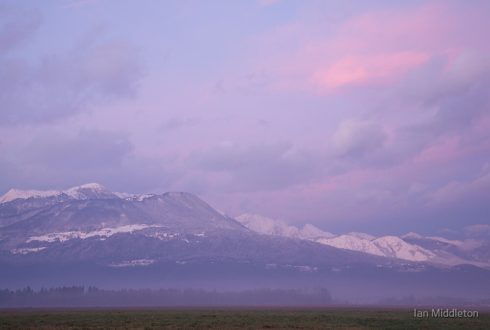 Krvavec and the Kamnik Alps at sunset by Ian Middleton