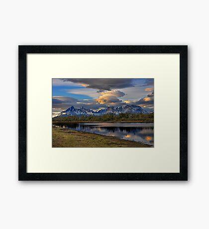 Torres Peaks Framed Print
