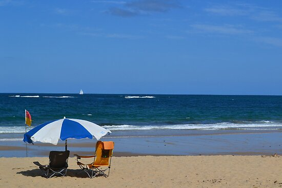 Sitting on the Beach by Jess Jones
