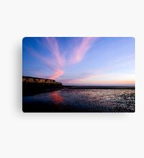 Hunstanton Cliffs at sunset Canvas Print
