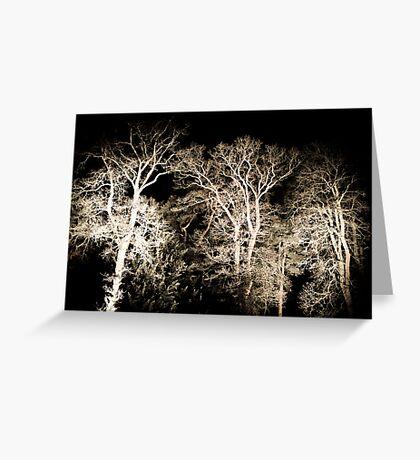 Skeletal, Her White Winter Finger Tips Greeting Card