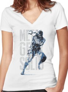 MGS17 - RUSSIAN MGS Women's Fitted V-Neck T-Shirt