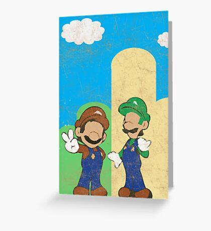 Minimalistic Super Mario Bros. Greeting Card