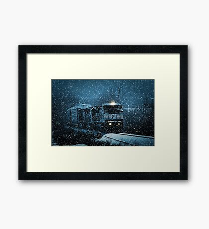 Another Train for the Holidays Framed Print