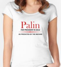 Palin For President 2012 Women's Fitted Scoop T-Shirt