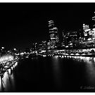 Melbourne city in b/w by bluetaipan