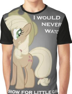 Applejack lies with Text Graphic T-Shirt