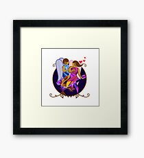 Abstract couple Framed Print