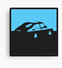 Saab 900, 1990 - Light blue on charcoal Canvas Print