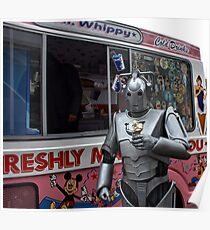Cyberman with ice cream Poster