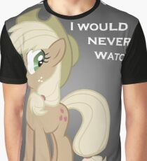 "Applejack lies ""You"" Version Graphic T-Shirt"