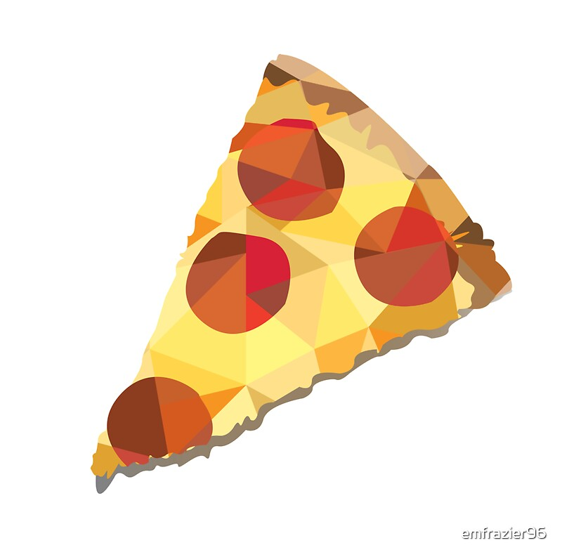 Geometric pepperoni pizza slice by emfrazier96