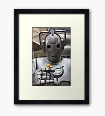 Cyberman with ice cream cone Framed Print