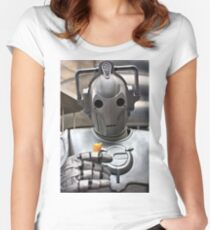 Cyberman with ice cream cone Women's Fitted Scoop T-Shirt