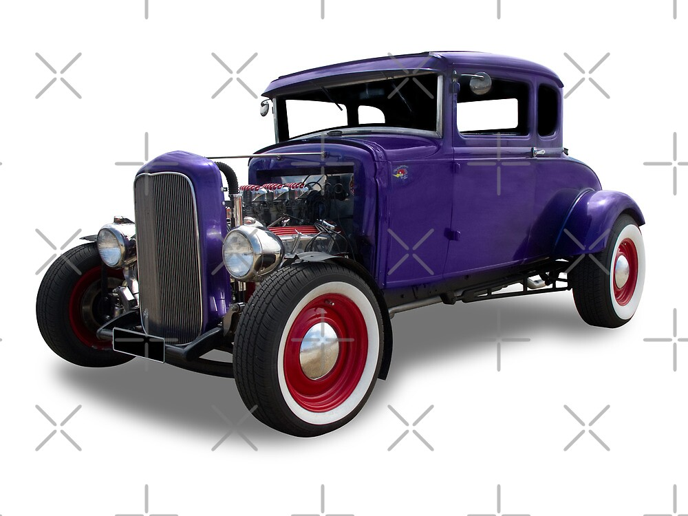 Ford - Purple Hotrod by axemangraphics