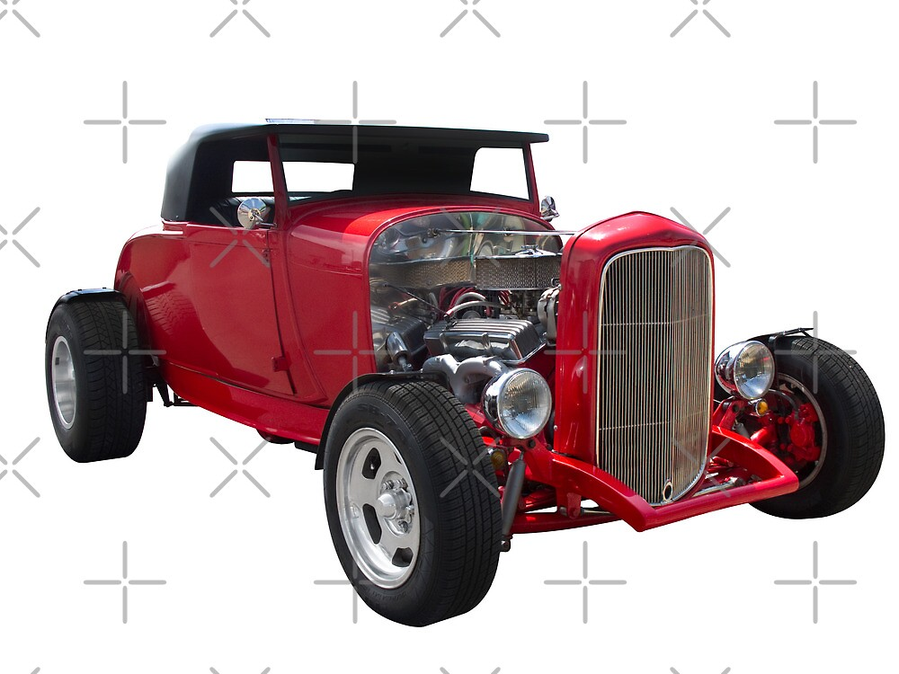 Ford - Red Hotrod by axemangraphics