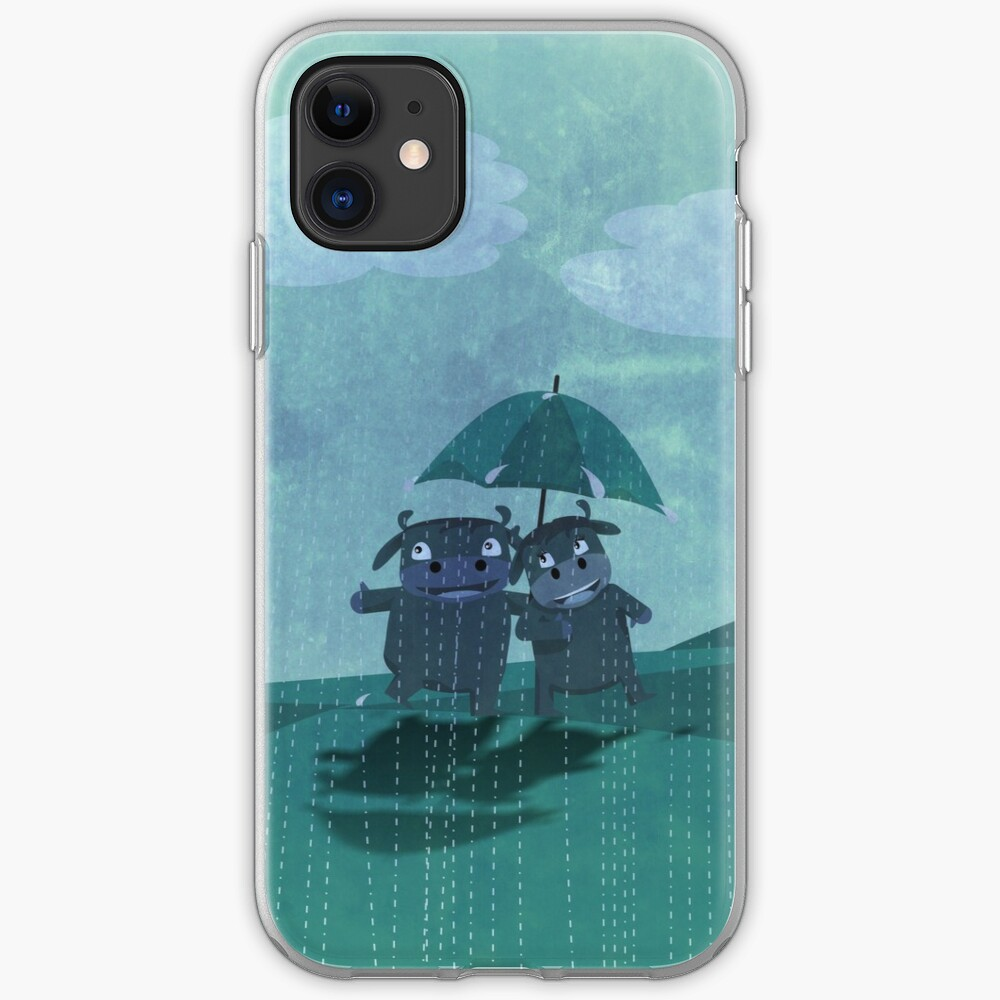 lovers in the rain iPhone Case & Cover