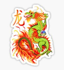 New Year Dragon and Symbol Sticker