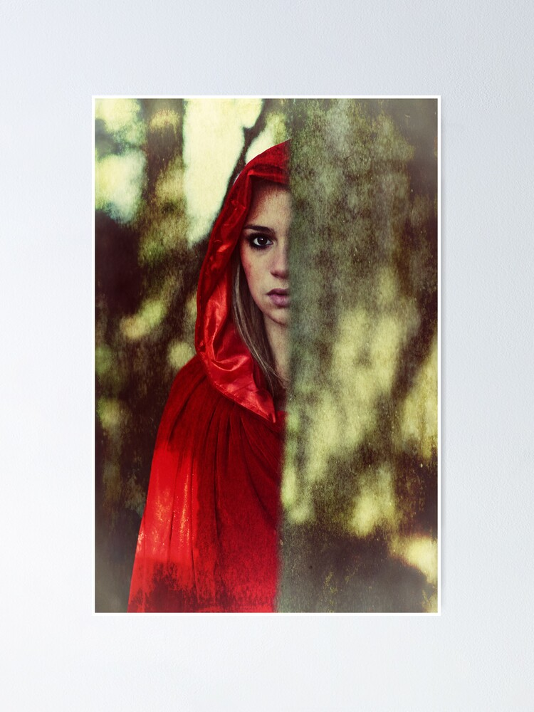 Quot Red Cloak Teenage Girl In The Woods Quot Poster By