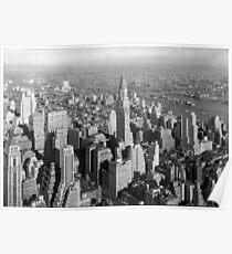 Póster Vintage Midtown Manhattan Photograph