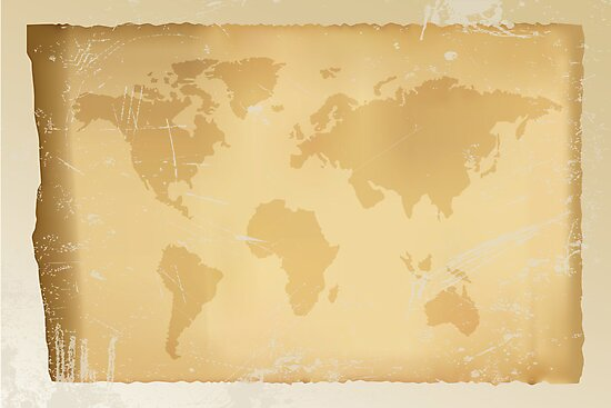 Old vintage world map by schtroumpf2510