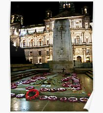 Cenotaph at George Square, Glasgow Poster