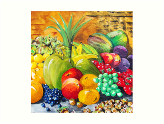 Fruit and nuts by buddybetsy